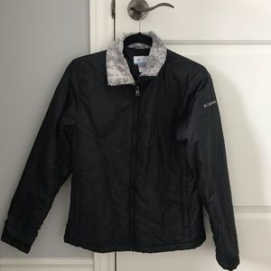 Columbia Fall Jacket with Fur Trim